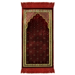 Red Chandelier Archway Kids Prayer Rug Mat for Children Sajada Junior