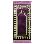 Purple Diamond Archway Kids Prayer Rug Mat For Children Sajada Junior