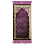 Purple Chandelier Archway Kids Prayer Rug Mat for Children Sajada Junior