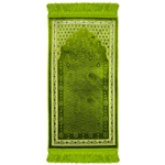 Green Chandelier Archway Kids Prayer Rug Mat for Children Sajada Junior