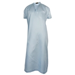 Sky Blue V-Neck Short Sleeve Casual Cotton Mens Thobe