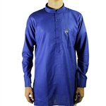 Men's Modern Casual Cotton Kurta with Accent Cuffs