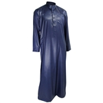 Hijaz Blue Formal Fitted Men's Thobe Polished Cotton Luxury Arab Robe