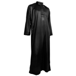 Hijaz Black Formal Fitted Men's Thobe Polished Cotton Luxury Arab Robe