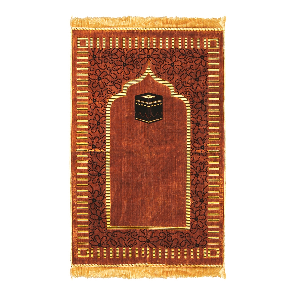 Muslim Prayer Rug 2 3 X 3 6 Gold Tan And Brown Color