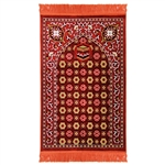 Muslim Prayer Rug Mat Orange and White Color