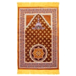 Prayer Rug 3.6' x 2.3' Orange Purple White Color