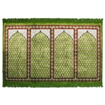 Four Person Green Lotus and Granite Prayer Rug