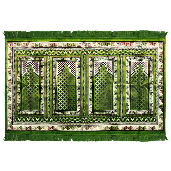 Four Person Intricate Large Greek Key Prayer Rug