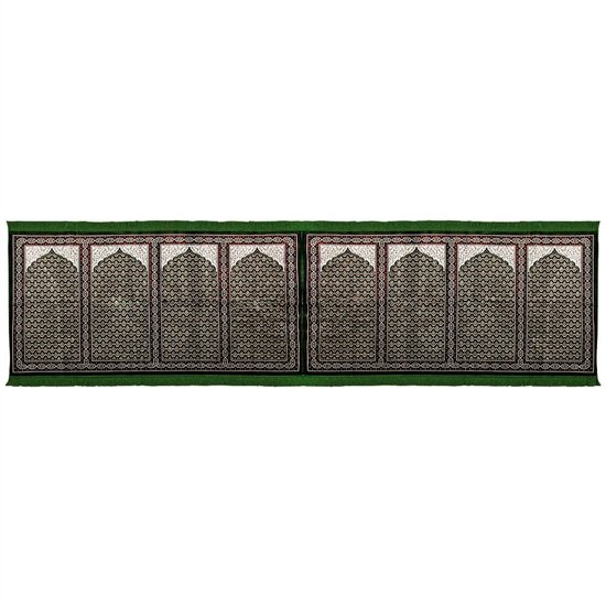 Eight Person Green Lotus and Granite Prayer Rug