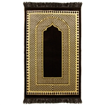 Border Authentic Turkish Prayer Rug with Tassles