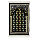 Border Soft Lightweight Islamic Muslim Prayer Rug