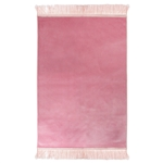 Pink Premium Solid Soft Velvet Prayer Rug Sajada Mat Single Janamaz Velour