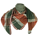 Dark Green Red Shemagh Fashion Desert Scarf Arabic Keffiyeh Silver Trim
