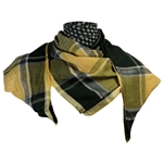 Green and Yellow Shemagh Desert Scarf Keffiyeh Wrap Circle Design