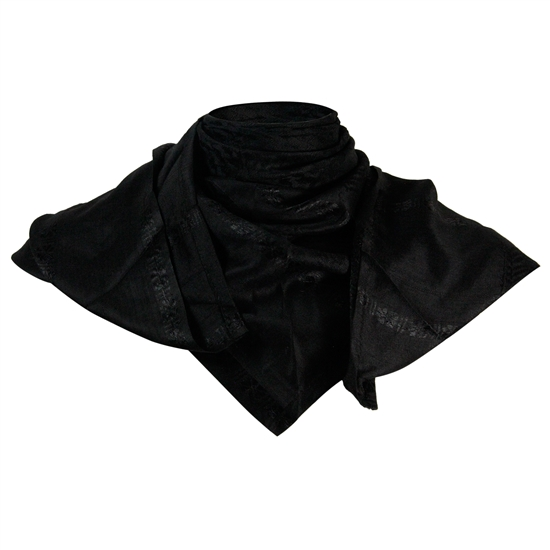 Black Shemagh Tactical Desert Scarf Keffiyeh with Tassles