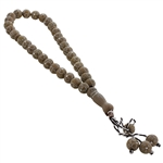 33 Count Islamic Warm Gray and Silver Rosary Prayer Beads Tasbih