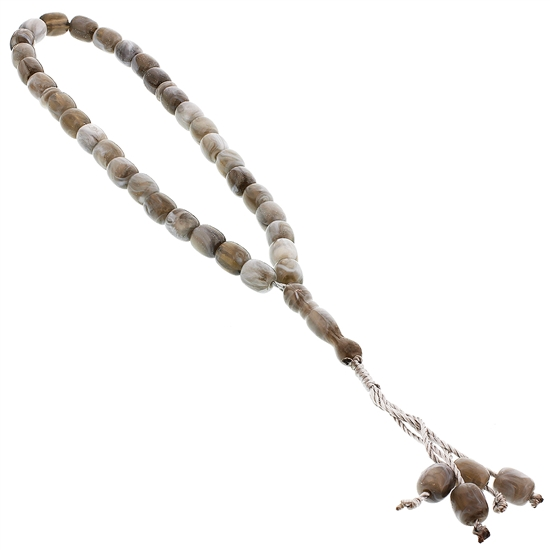 33 Count White Marble Design Islamic Rosary Prayer Beads Tasbih