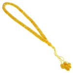 99 Count Islamic Yellow Rosary Prayer Beads misbaha