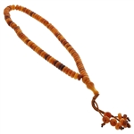 99 Count Orange and Brown Islamic Prayer Beads Tasbih