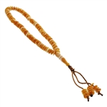 99 Count Orange Islamic Rosary Prayer Beads Tasbih with Mutiple Shades of Orange