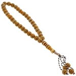 33 Count Orange Islamic Rosary Prayer Beads Tasbih With Tribal Design