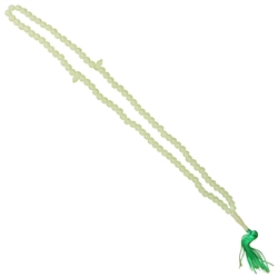 99 Count Light Green Islamic Rosary Prayer Beads Misbaha with Seperatory Beads
