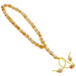33 Count Islamic Yellow and White Rosary Prayer Beads misbaha