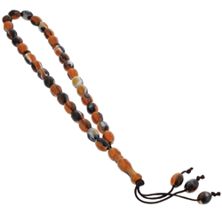 33 Count Multicolored Marble Design Islamic Rosary Prayer Beads Tasbih