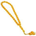 33 Count Polished Orange Islamic Rosary Prayer Beads Tasbih