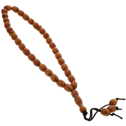 33 Count Islamic Brown Rosary Prayer Beads misbaha