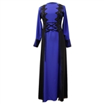 Dark Blue Abaya Long Maxi Formal Dress