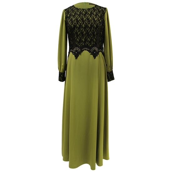 Olive Green Abaya Long Maxi Formal Dress