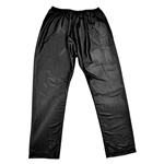 Men's Black Vietnamese Cotton Silky Thobe Pant Serwal Elastic Waist Slim Fit