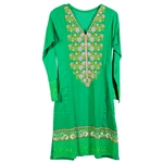 Green Traditional Women's Casual Kurti Top